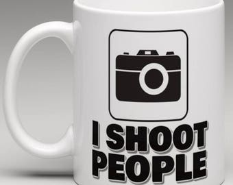 I Shoot people - Photographer Camera  Mug