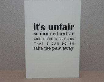 Miscarriage card / Infertility card / Grief card / Loss card / Blank card