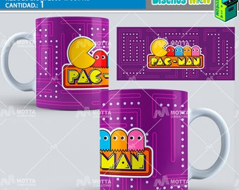 Bandstands template for Mugs reason Arcade Pac-man