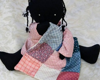 African American Rag Doll...Maker unknown