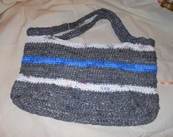 "Crochet Tote from plastic""plarn"""