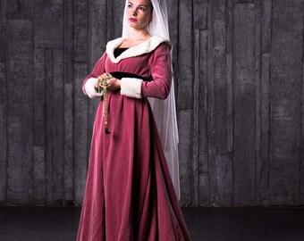 Medieval Dress - Burgundian gown XV century - Renaissance Dress - Medieval Gown - Costume - Renaissance Clothing - Larp SCA dress - SCA gown