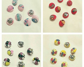 Naj-oleari original vintage fabric covered buttons