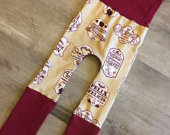 maxaloones, Harry Potter potions grow with me pants, cloth diaper pants, baby pants, baby clothes, monkey bunz pants, nerdy baby gift