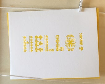 Hello Sunshine - Greeting Card