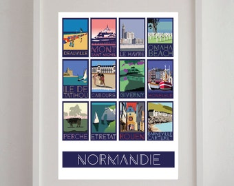 """Show """"Normandy"""" 50 x 70 cm - poster, poster vintage, retro poster"""