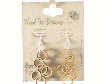 """Laser Cut Wooden Earrings - """"Bubbles"""""""