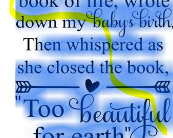 book of life too beautiful for earth svg png instant download cutting file