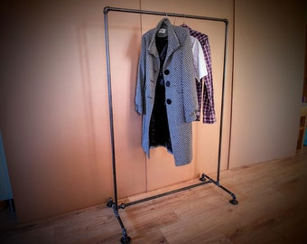 Industrial clothing rack, Pipe clothing rack, Store fixture, Clothing display, Garment display, Clothes display, Retail furniture, Steampunk