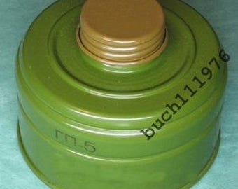 Ussr Russian Gas Mask Filter Canister GP-5k 40mm with gas mask box for gp-4/gp-5/ gp-7/gp-7vm/gp-9/ppm-88/mag