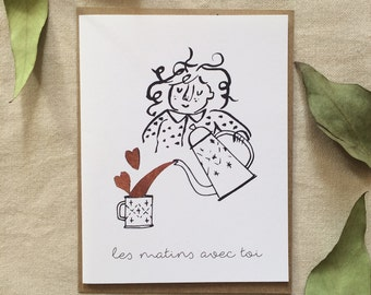 Greeting card 'Morning with you'