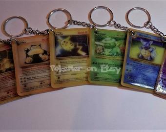 Single Customizable Pokemon Card Keychains (SEE DESCRIPTION)