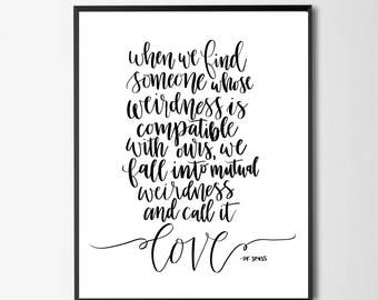 Dr Seuss Print - LOVE