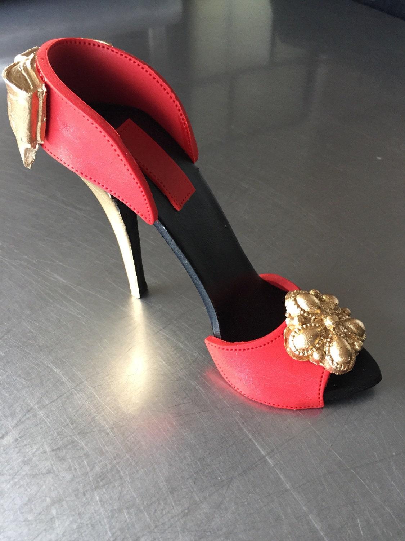 high heel shoe cake topper gumpaste fondant decoration