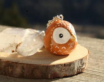 20% OFF SALE owl necklace, handmade owl, bird necklace, clay jewelry, handmade clay jewelry