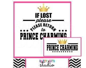 If Lost Please Return to Prince Charming Royal Matching Husband Wife Couple Girlfriend Boyfriend Vacation Disney Iron On Vinyl Decal 321