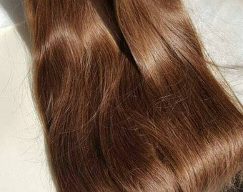 Light golden brown, Human Hair, Hair extensions, 22'', Remy hair, Clip in extensions, Slavic hair