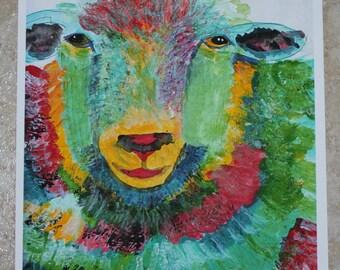 Color Run Sheep, Art PRINT