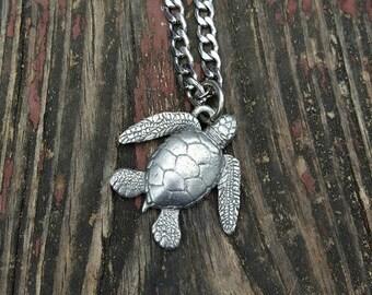 Sea Turtle Pendant Necklace