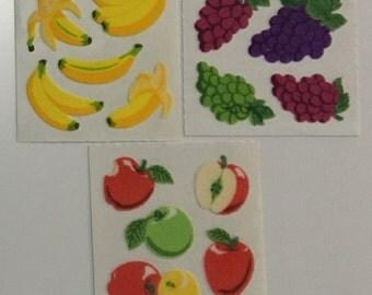 Fuzzy set of Sandylion Fruit Stickers
