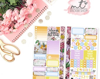 Kiss The Cook Personal Planner Kit || 80+ Planner Stickers