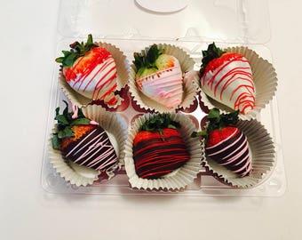 1/2 Dozen Chocolate Covered Strawberries Gift Set