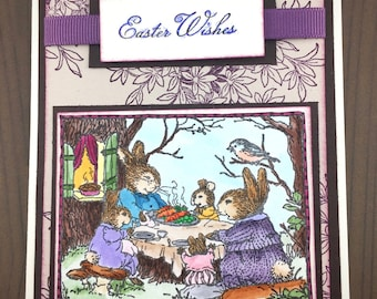 Easter Card - Bunny Card - Easter Wishes - Easter greeting Card