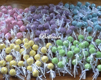 15 cake pops, colours of your choice (customised, cake, cake pops, sweet, birthday, wedding, any occasion, party favour, present, gift)