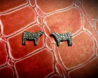 BLING Show Stock cow earrings