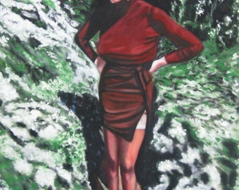 """Matte Poster Print of """"Perfect Outfit for the Day"""" from Grey Gardens"""