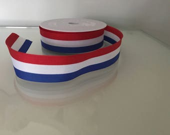 Red, White & Blue Stripe Ribbon