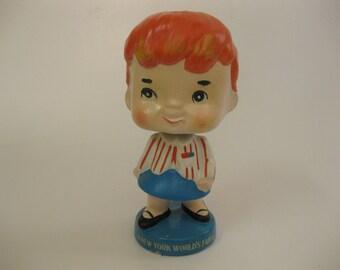 Vintage 1964 New York World's Fair Nodder Bobblehead Wendy
