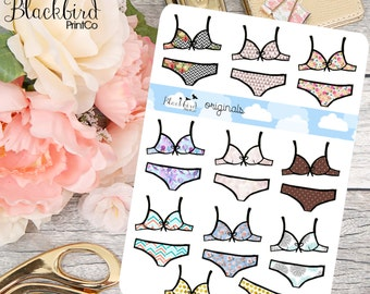 Lingerie Hand Drawn Planner Stickers [DR0005]