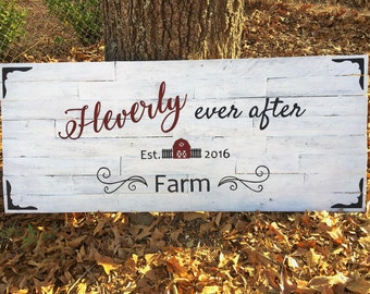 Business Wood Sign~ Custom Business Sign ~Large Farm Sign~ Personalized Large Wood Sign ~Reclaimed Pallet Wood Sign~ 4 ft Sign~ Name sign~