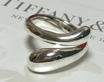 Excellent Authentic Tiffany & Co. Elsa Peretti Teardrop Ring #5.75 RP500
