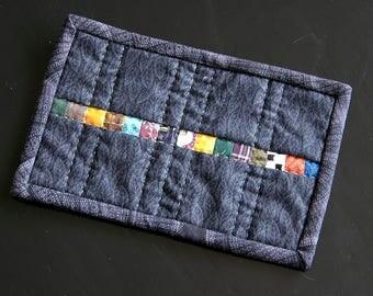Colour stripe mug rug