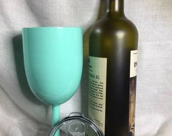 coated stainless wine tumbler (plain or personalized)