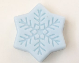 Snowflake Soap, Winter Holiday Christmas Soap, Christmas Scented Soap, Holiday Decorative Soap, Gift or Stocking Stuffer Soap