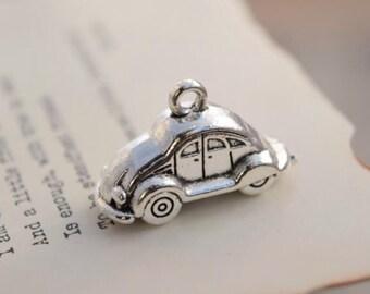 10 antique silver car charms 3d car charm pendant pendants  (L03)