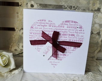 From The Heart Wedding Invitation -SAMPLE