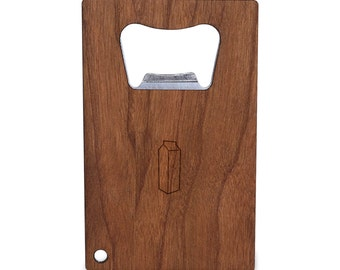 Milk Carton Bottle Opener With Wood, Stainless Steel Credit Card Size, Bottle Opener For Your Wallet, Credit Card Size Bottle Opener