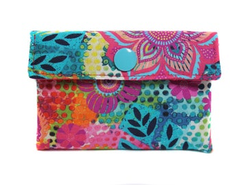 card holders in colorful fabric