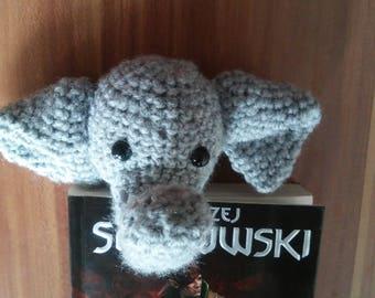 bookmark elephant crochet handmade style and hit