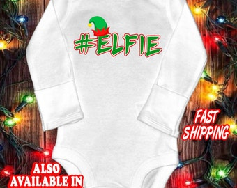 Funny baby one-piece bodysuit shirt - Elf christmas baby shirt