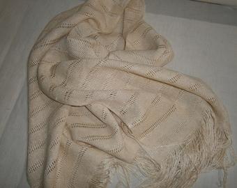 hand woven raw silk scarf