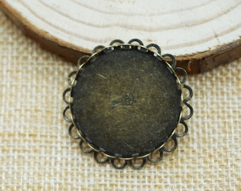 5pcs Antiqued Bronze Brooch Pins back with 25mm glue pad(500-424-A)