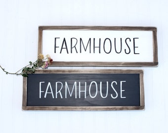 Farmhouse Wood Sign, Rustic Farm Sign