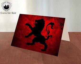 Lion Grunge; Greeting Cards & Prints