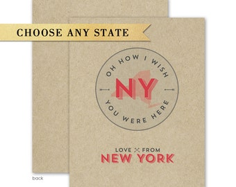 State Brown Kraft Greeting Card