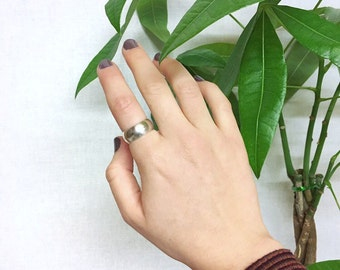 Chunky Sterling Silver Thick Band Ring | Made To Order